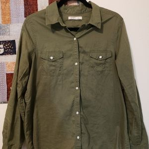Old Navy olive button down